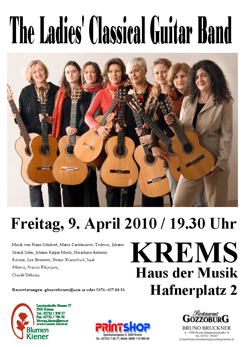 42   08.04.2010 The Ladies Classical Guitar Band Plakat